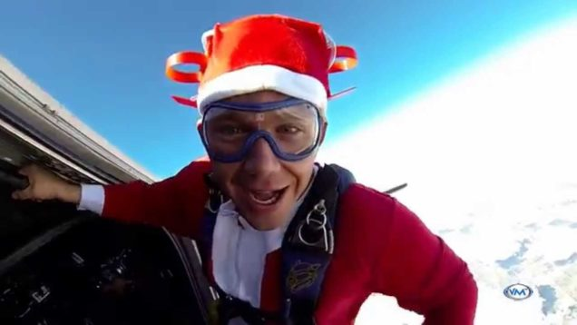Santa Jumps Out of a Plane! (Skydive Miami) Merry Christmas!
