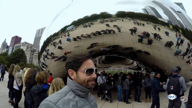 The Cloud Gate ( The Bean) El frijol de Chicago